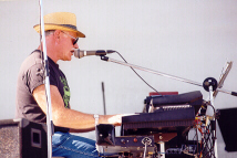 Max playing the Musitron on stage in 2001