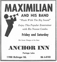 Gig Poster for the Anchor Inn