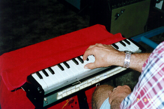 Max Playing the Musitron - 2001